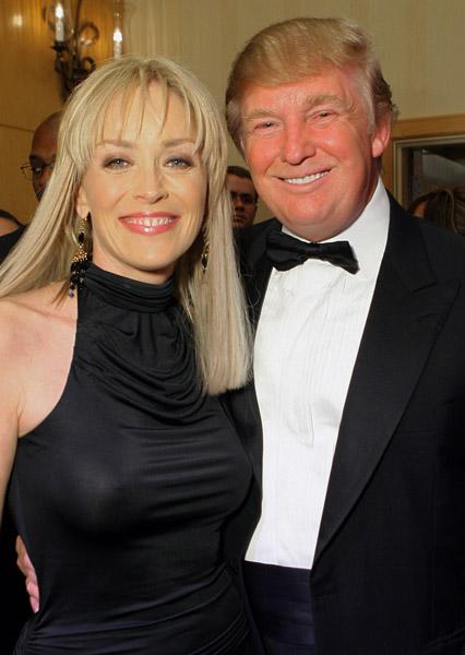 Sharon Stone & Donald Trump