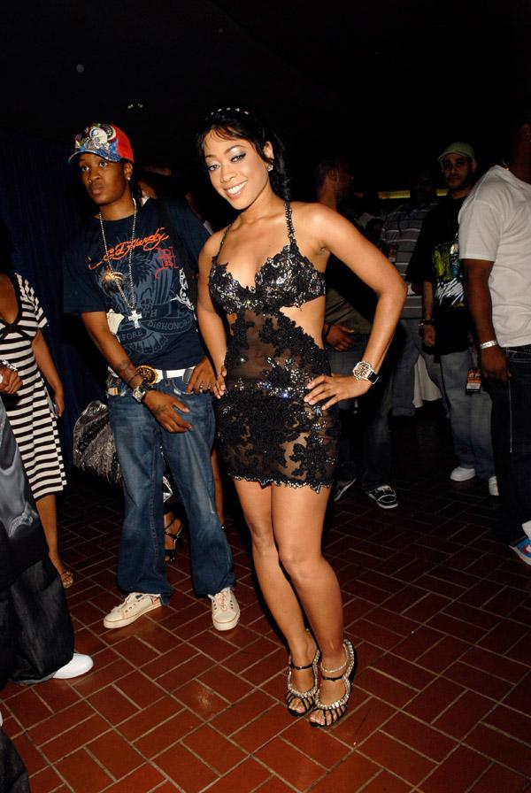 Trina arriving at the 2007 O'Zone Awards