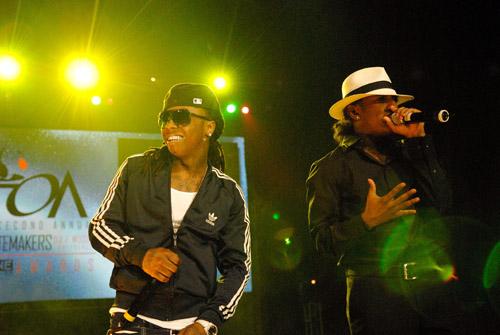 Lil Wayne and Lloyd at the 2007 O'Zone Awards