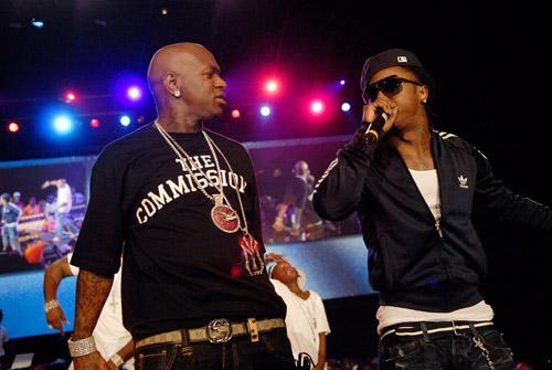 Baby and Lil Wayne at the 2007 O'Zone Awards
