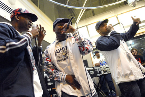 50 CENT, TONY YAYO, AND LLOYD BANKS AT SIRIUS SATELLITE RADIO