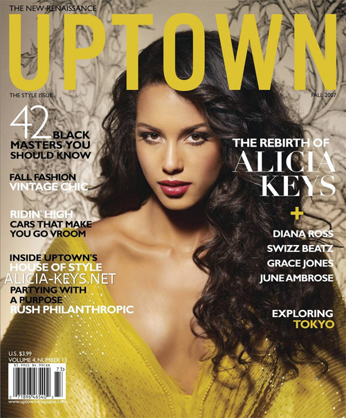 ALICIA KEYS ON THE COVER OF UPTOWN MAGAZINE