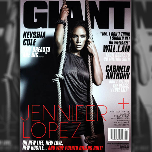 Jennifer Lopez Does Giant Magazine - November 2007