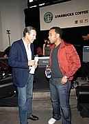 CEO Starbucks Howard Schultz & John Legend
