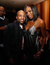 Kevin Liles and Serena Williams
