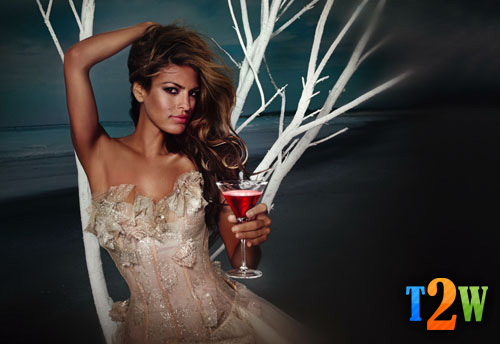 Eva Mendes Graces the Pages of the 2008 Campari Calendar