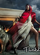 Eva Mendes as Little Red Riding Hood