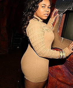 Ashanti's lil sis @ the club