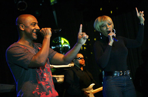 Stephen Hill & Mary J. Blige at Live Beats