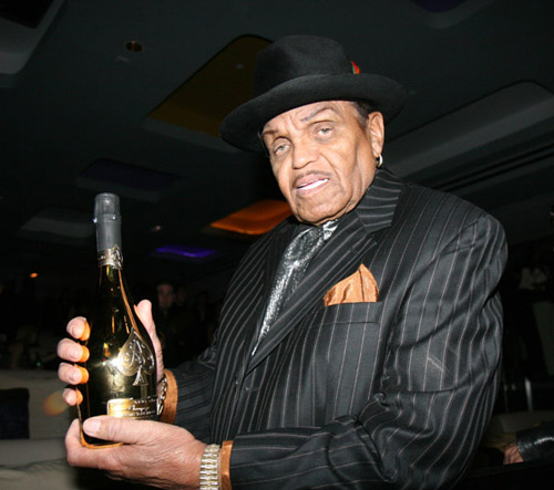 Papa Joe Jackson at the 40/40 club opening