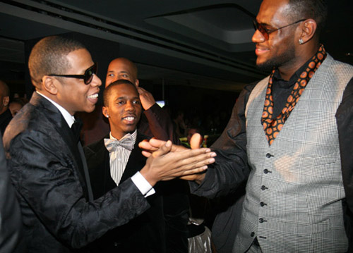 Jay and LeBron at the 40/40 club opening