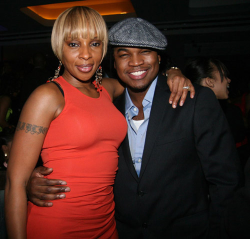Mary J. Blige and Ne-Yo at the 40/40 club opening