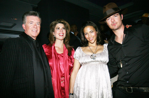 Alan Thicke, Tanya Callou, Paula Patton, and Robin Thicke at the 40/40 club opening