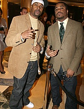 Memphis Bleek & Just Blaze at the 40/40 club opening