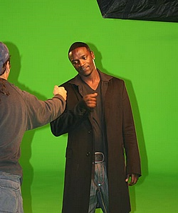 "Akon on set of ""Get Buck In Here"""