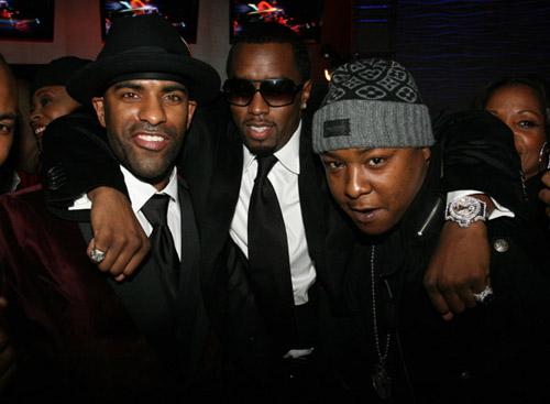 DJ Clue, Diddy, and Jadakiss at DJ Clue's b-day