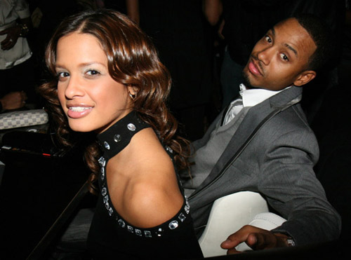 Rocsi and Terrence J at DJ Clue's b-day