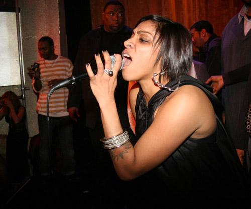 Cheri Dennis at DJ Clue's b-day