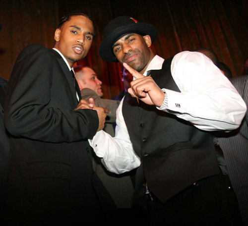 DJ Clue and Trey Songz at DJ Clue's b-day