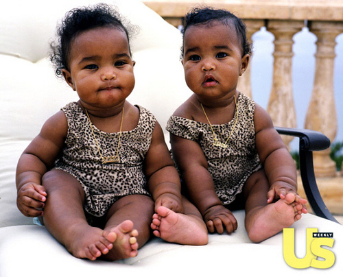 Diddy's twin girls Jessie James and D'Lila in US Weekly
