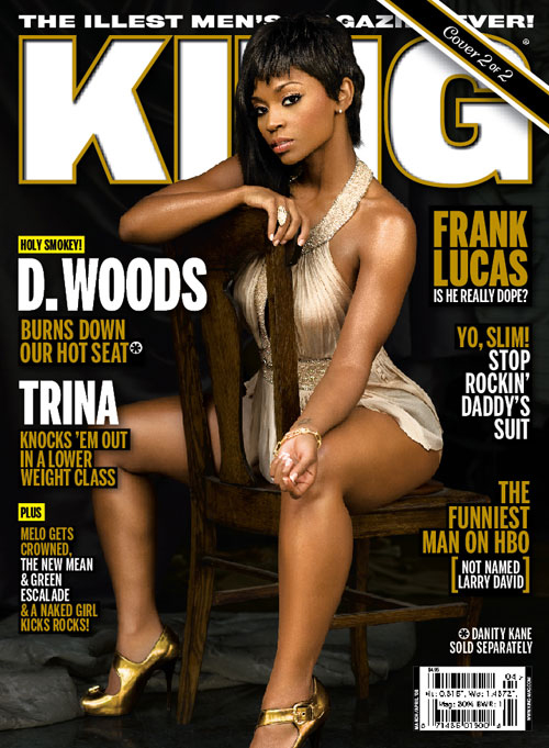 D.Woods on the cover of King Magazine