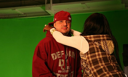 "DJ Felli Fel on set of ""Get Buck In Here"""