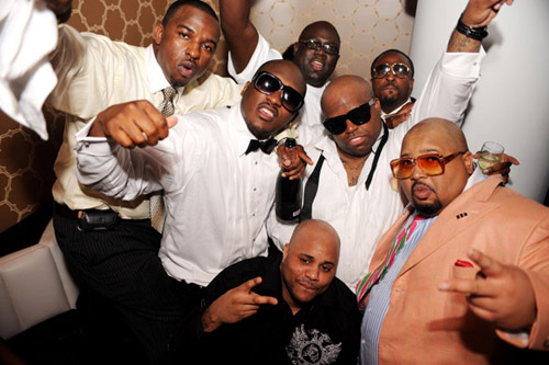 Cee-Lo, Jazze Pha, and some other folks at Delano NYE 07/08