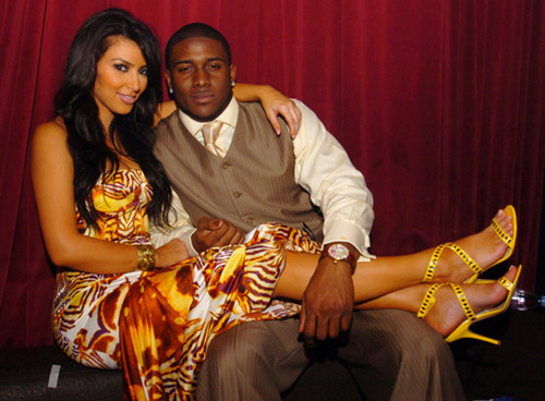 Kim Kardashian and Reggie Bush celebrate New Years Eve 07/08