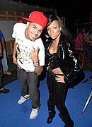 "Chris Brown & Lil Mama on the set of ""Shawty Get Loose"""