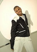 "Chris Brown on the set of ""Shawty Get Loose"""