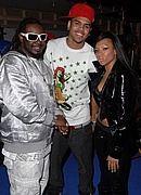 "T-Pain, Chris Brown, and Lil Mama on the set of ""Shawty Get Loose"""