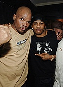 "Darryl ""DMC"" McDaniels & Nelly at the Apple Bottoms 5th anniversary party"