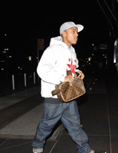 Bow Wow arriving with friends at a hotel in NYC
