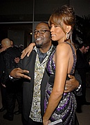 Whitney Houston & Randy Jackson at Pre-Grammy Party