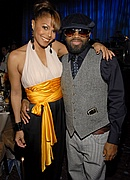 Jermaine Dupri & Janet Jackson at Pre-Grammy Party