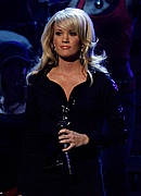 Carrie Underwood performing at the 50th Annual Grammys