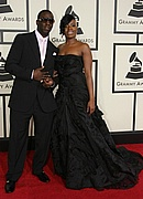 Fantasia & Young Dro arrive at the 2008 Grammys