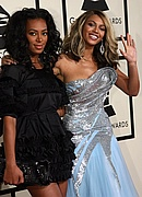 Beyonce & Solange on the Red Carpet at the 50th Annual Grammys
