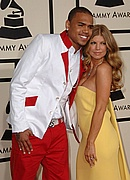 Chris Brown & Fergie on the Red Carpet at the 50th Annual Grammys