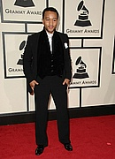 John Legend on the Red Carpet at the 50th Annual Grammys
