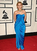 Nelly Furtado on the Red Carpet at the 50th Annual Grammys