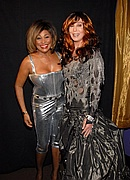 Tina Turner & Cher backstage at the 50th Annual Grammys