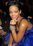 Rihanna in the audience at the 50th Annual Grammys