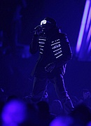 Kanye West performs at the 50th Annual Grammys