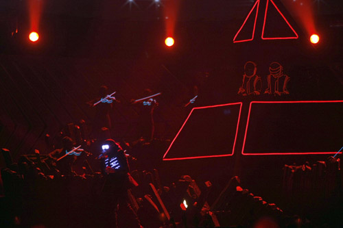 Kanye West & Daft Punk perform at the 50th Annual Grammys