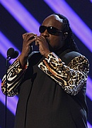 Stevie Wonder at the 50th Annual Grammys