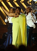 Aretha Franklin performs at the 50th Annual Grammys
