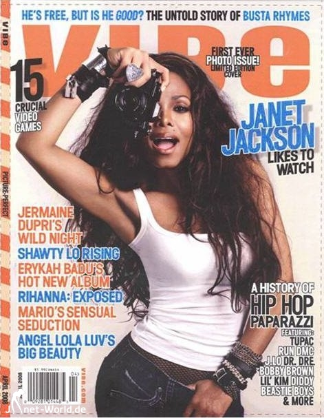 Janet Jackson - Vibe April 2008 Edition - First Photo Issue Ever