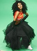 "Teyana Taylor on the set of ""Google Me, Baby"""