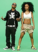"""Omarion and Teyana Taylor on the set of """"Google Me, Baby"""""""